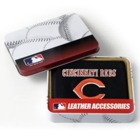 Cincinnati Reds Leather Trifold Wallet