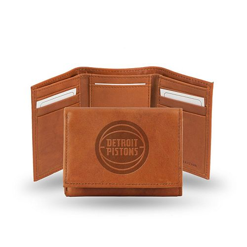 Detroit Pistons Leather Trifold Wallet