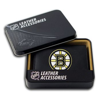 Boston Bruins Leather Trifold Wallet