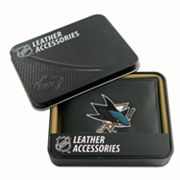 San Jose Sharks Trifold Leather Wallet