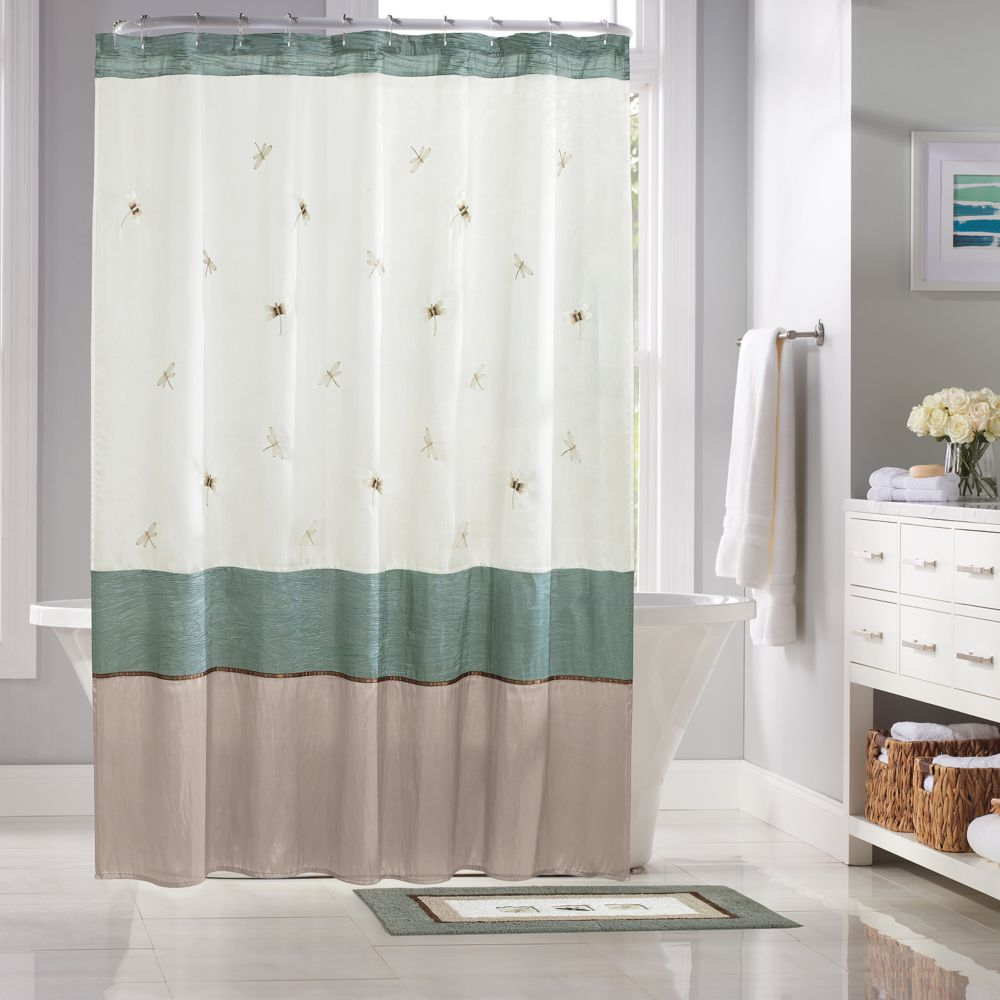 Kohls Bathroom Sign home classics® shalimar dragonfly shower curtain collection