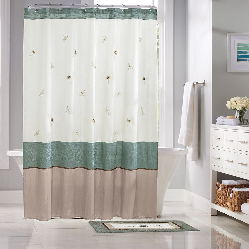 Shalimar Dragonfly Fabric Shower Curtain