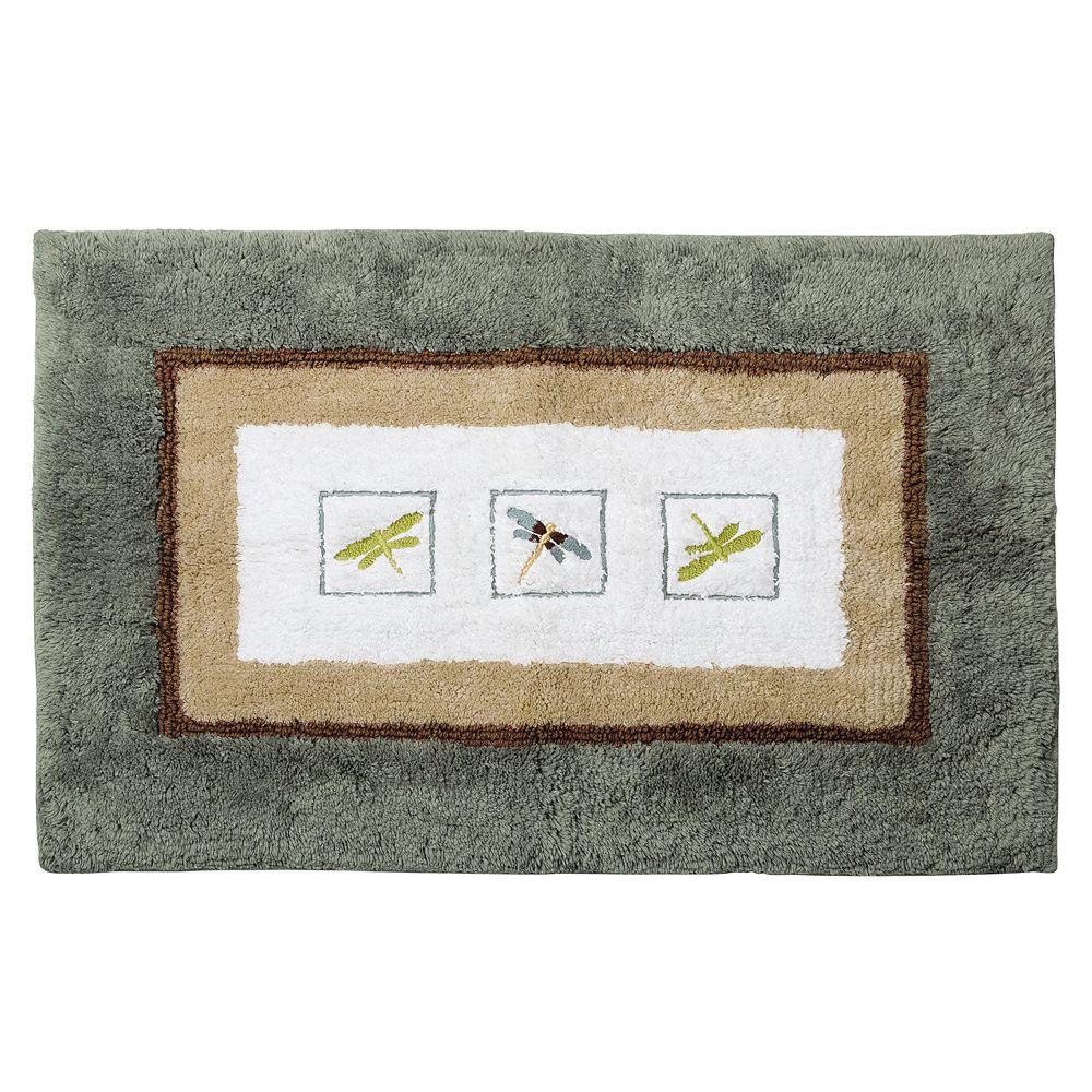 Dragonfly bathroom decor - Home Classics Shalimar Dragonfly Bath Rug
