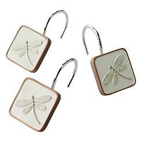 Home Classics® Shalimar 12-pk. Dragonfly Shower Curtain Hooks