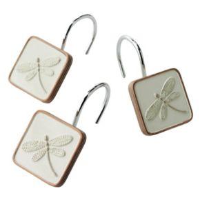 Home Classics® Shalimar 12-pk. Dragonfly Shower Curtain Hooks