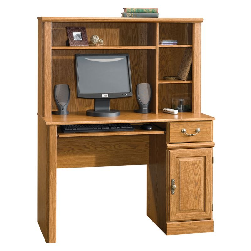 Sauder Orchard Hills Computer Desk and Hutch, Multicolor