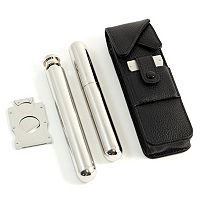 Leather Cigar & Flask Case