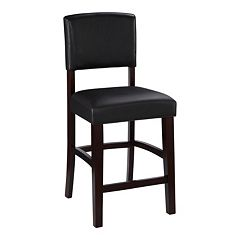 Linon Monaco Black Counter Stool