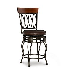 Linon Oval-Back Counter Stool