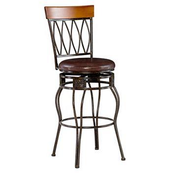Linon Oval-Back Bar Stool