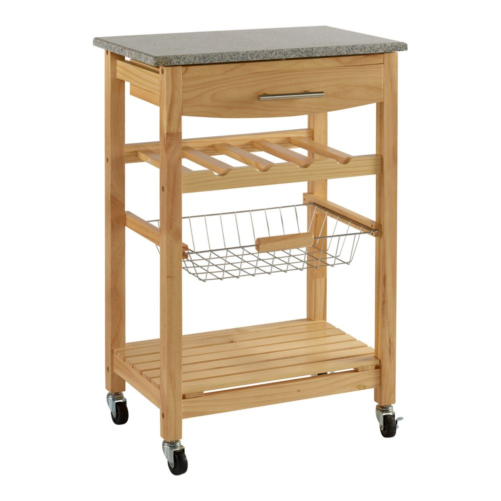 Kitchen Island Kohls bamboo granite-top kitchen island