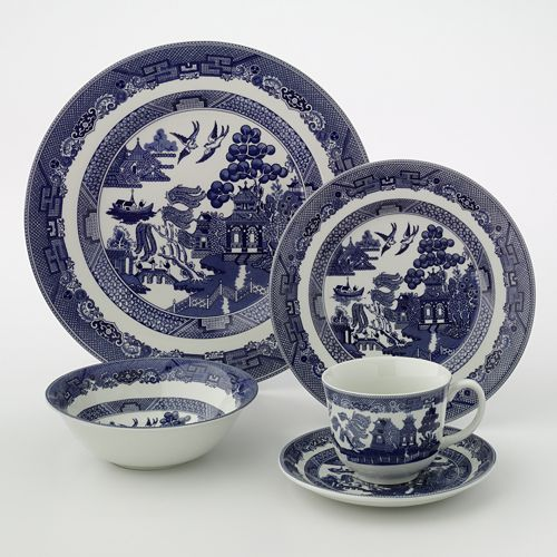 Johnson Brothers 20-pc. Willow Dinnerware Set