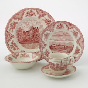 Johnson Brothers 20-pc. Red Castle Dinnerware Set