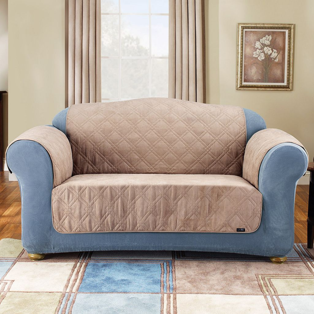 Sure Fit Furniture Friend Faux-Suede Loveseat Pet Cover