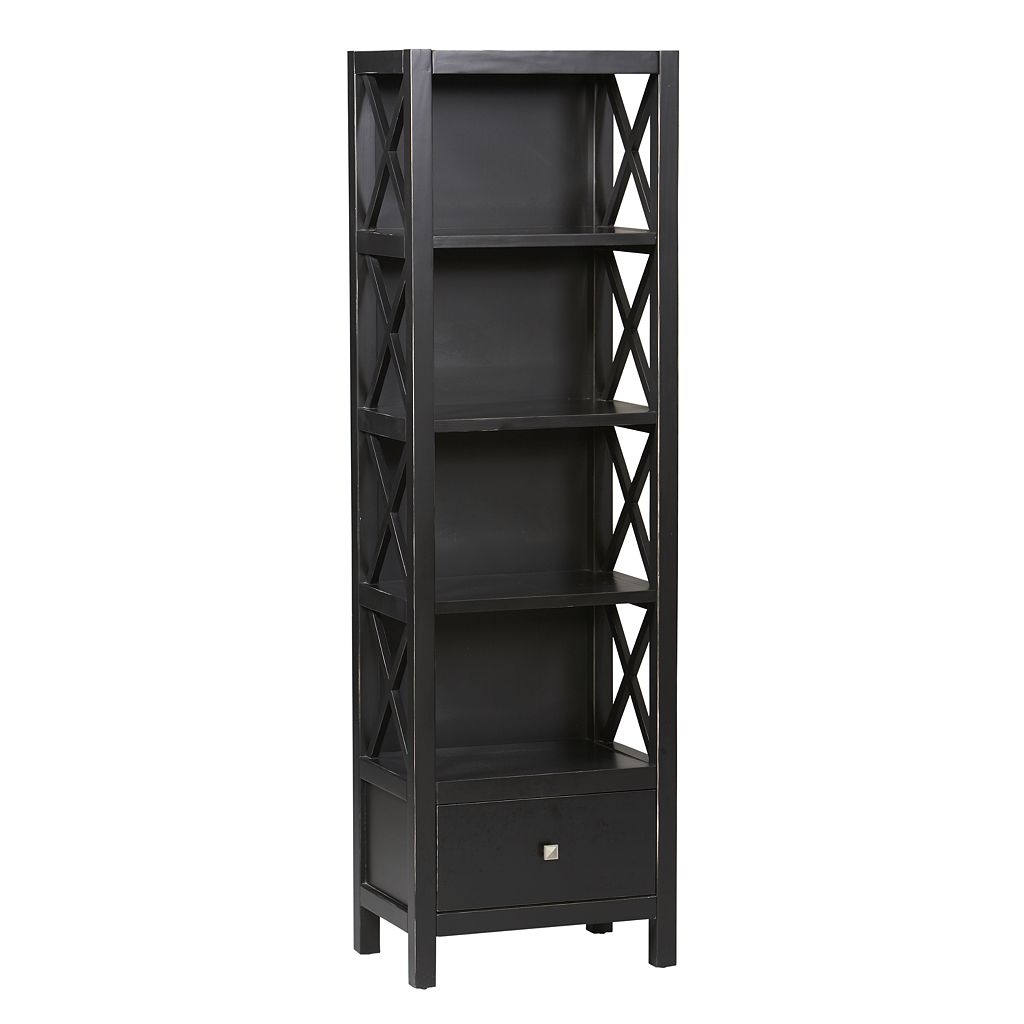 Linon Anna Narrow 5-Shelf Bookcase