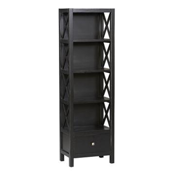 Linon Anna Narrow 5-Shelf Bookcase