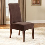Sure Fit Pin Striped Dining Chair Slipcover