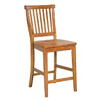 Slatted-Back Counter Stool
