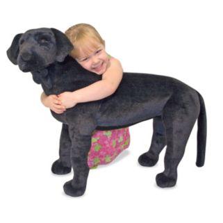 Melissa and Doug Black Lab Plush Toy