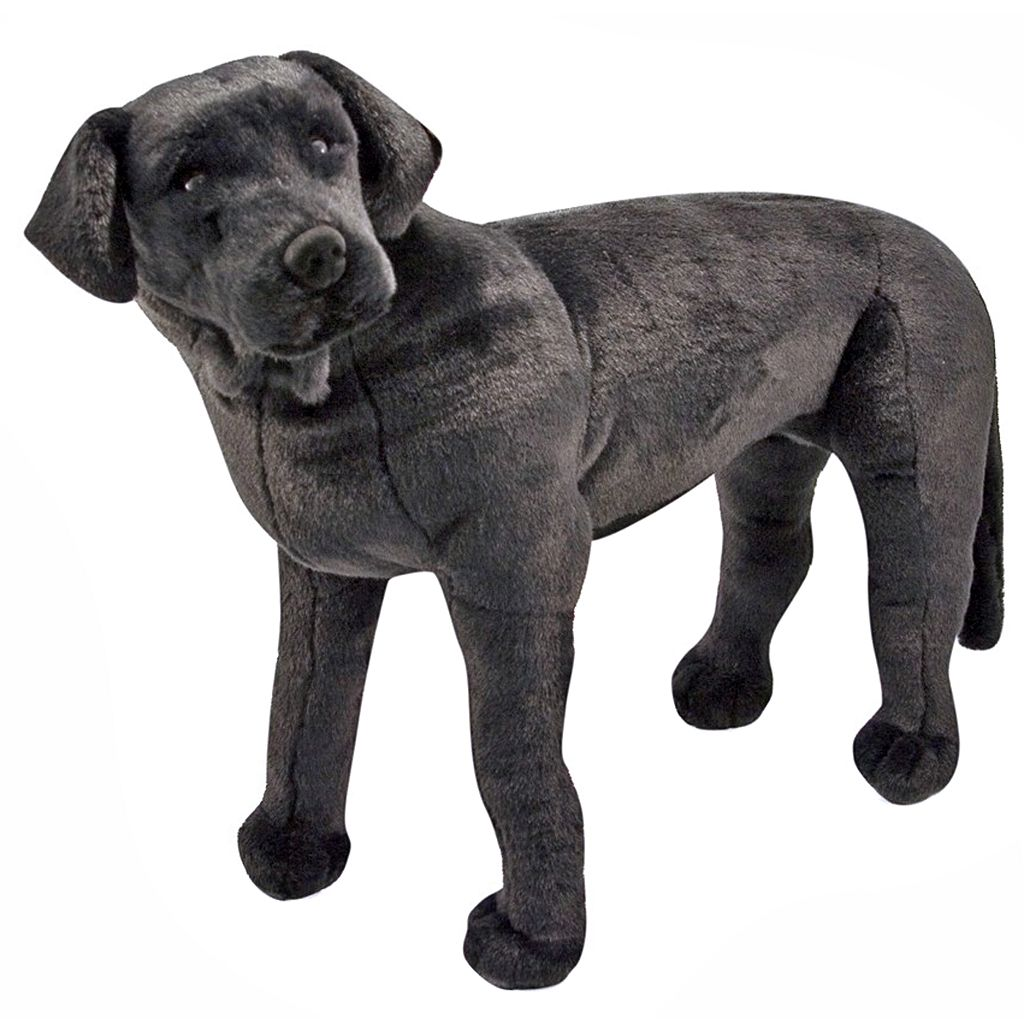 Melissa and Doug Black Lab Plush Toy