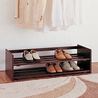 Neu Home 2 pc Stackable Shoe Rack Set