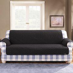 Sure Fit™ Duck Cloth Loveseat Pet Cover