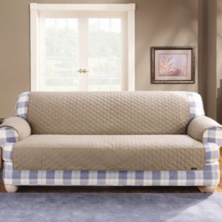 Sure Fit Duck Cloth Loveseat Pet Cover