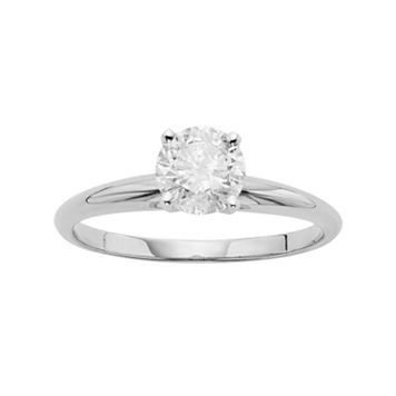 Certified Diamond Solitaire Engagement Ring in 14k White Gold (1 ct. T.W.)