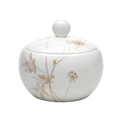 Mikasa Floral Mist Covered Sugar Dish