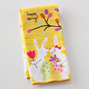 Blossoms and Blooms Bunny Kitchen Towel