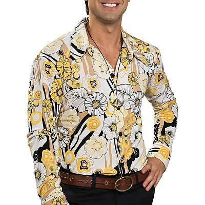 Feeling Groovy Floral Costume Shirt - Adult