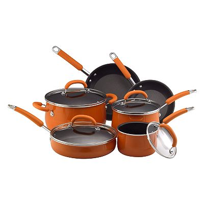 Rachael Ray 10-pc. Porcelain Enamel Cookware Set