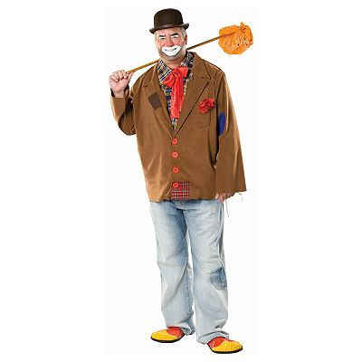 Harry the Hobo Clown Costume - Adult Plus