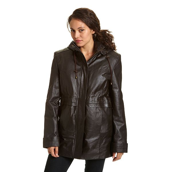 Leather Arm Parka