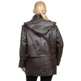 Plus Size Excelled Nappa Leather Parka