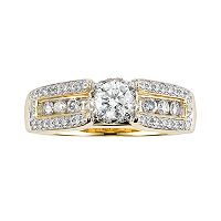 Cherish Always Round-Cut Diamond Engagement Ring in 10k Gold (1 ct. T.W.)