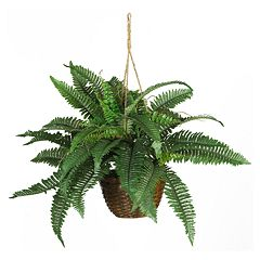 nearly natural Hanging Silk Boston Fern Plant