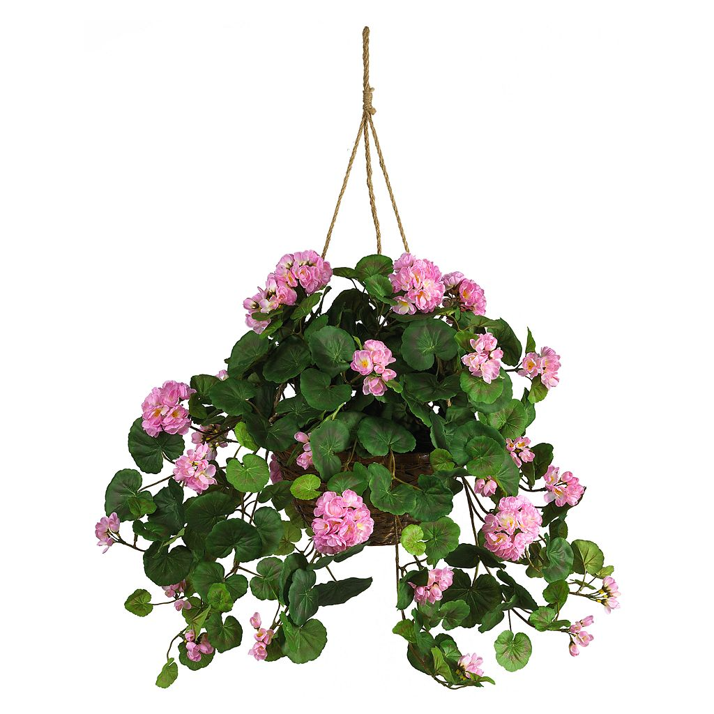 nearly natural Hanging Silk Geranium Plant