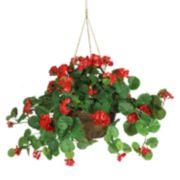 nearly natural Hanging Silk Geranium Plant