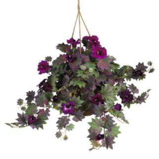 nearly natural Hanging Silk Morning Glory