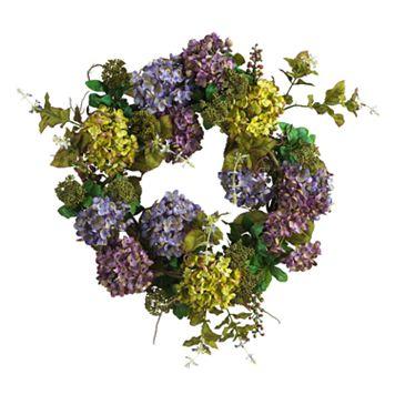 nearly natural Silk Hydrangea Wreath
