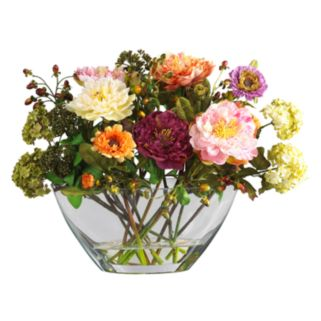 nearly natural Silk Peony Floral Arrangement