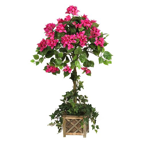 nearly natural Silk Bougainvillea Topiary