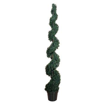 nearly natural 6-ft. Silk Cedar Spiral Tree