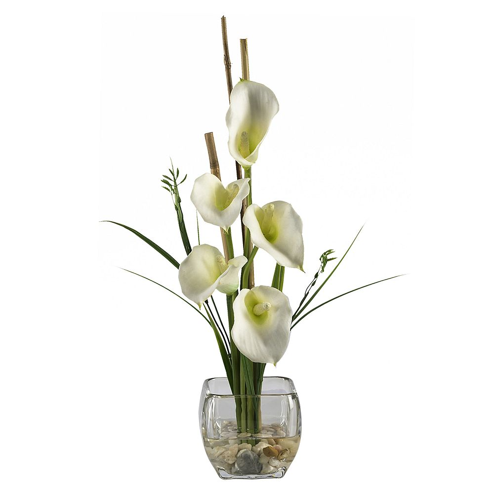Nearly natural silk calla lily flower arrangement izmirmasajfo