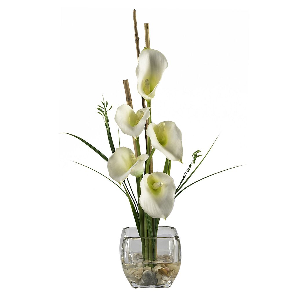 nearly natural Silk Calla Lily Flower Arrangement