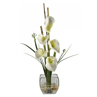Artificial Flower Arrangements on Nearly Natural Silk Calla Lily Flower Arrangement