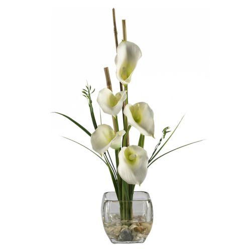 nearly natural Silk Calla Lily Flower Arrangement
