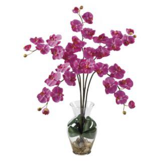 nearly natural Liquid Illusion Silk Phalaenopsis Orchid Floral Arrangement