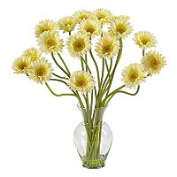 nearly natural Liquid Illusion Silk Gerber Daisy Floral Arrangement